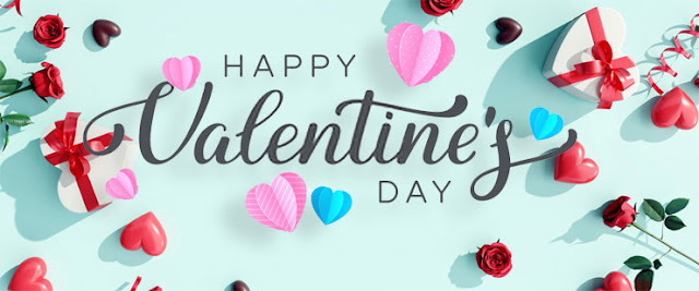 Valentine's Day gift, flower and heart love Image