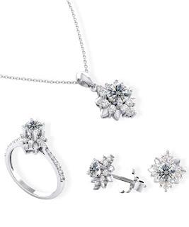 Trang sức cưới với kim cương tấm