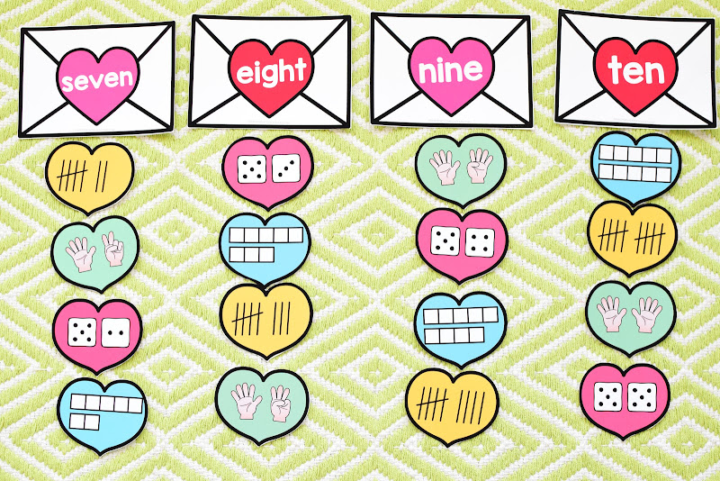 Valentine's Day Preschool Math and Literacy Mini Unit