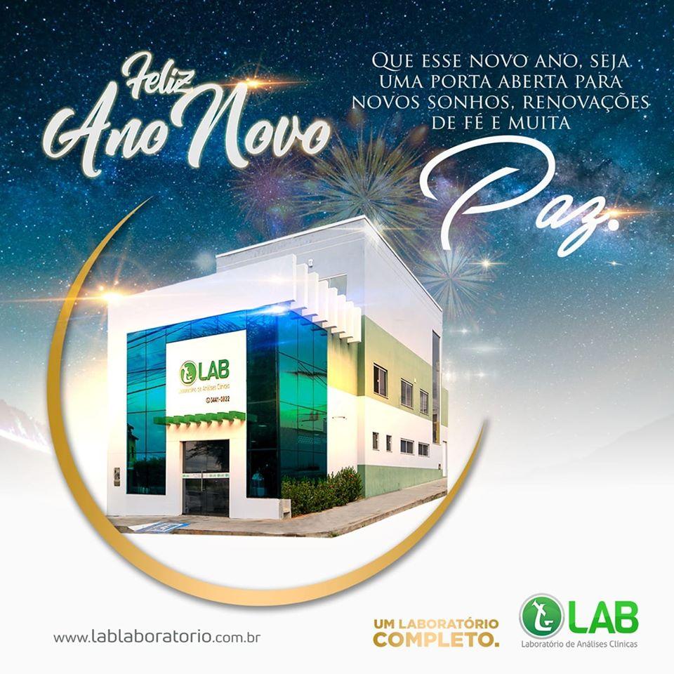 LAB Laboratório deseja aos clientes e amigos um Feliz Ano Novo