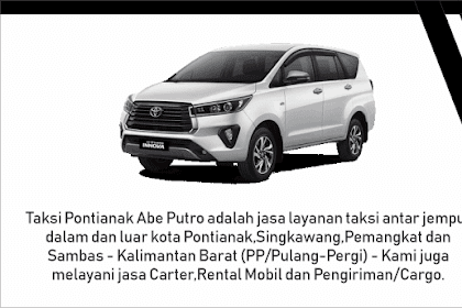 Taksi Pontianak Murah - Jasa Taksi di Pontianak - Taxi di Pontianak - Jasa Travel di Pontianak Kalimantan Barat