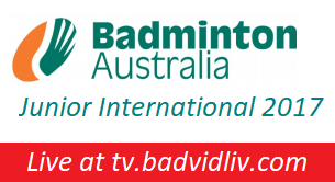 Li-Ning Australian Junior International 2017 live streaming
