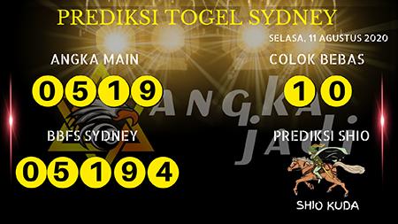 Prediksi Angka Jitu Sydney Selasa 11 Agustus 2020