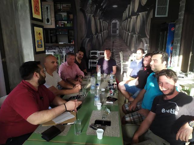 Συνάντηση του Συλλόγου Επαγγελματιών Εστίασης Άργους Μυκηνών με τον Γ. Πανοβράκο