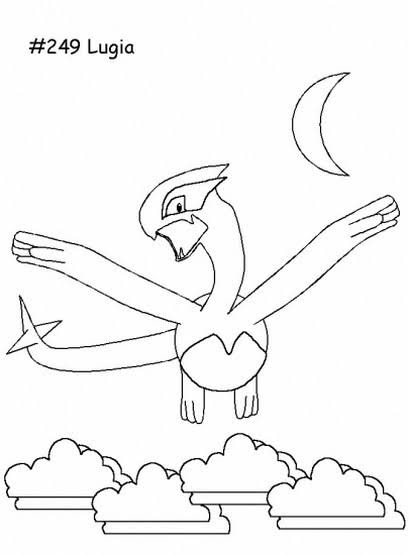 Lugia Pokemon Coloring Pages : lugia, pokemon, coloring, pages, Lugia, Legendary, Pokemon, Coloring, Pages