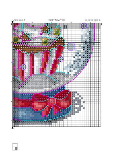 schema punto croce Natale- spalla di neve con biscotti di pan di zenzero cross stitch pattern free