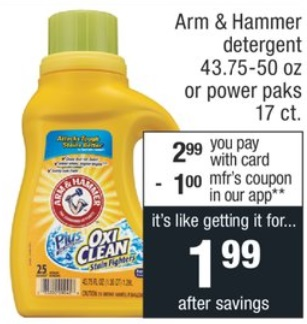 Arm & Hammer Power paks cvs deal