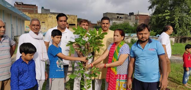 Sreedev Guru Jupiter Sevak Trust in Faridabad did planting, resolution of clean environment