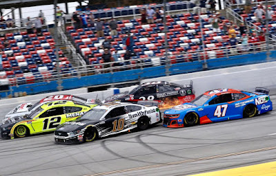 Aric Almirola Spins Backwards to a 3rd Place Finish (#NASCAR)