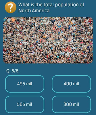 What is the total population of North America?