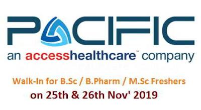 Walk-in interview for B.Sc / M.Sc / B.Pharm / M.Pharm Freshers - Medical Coding @ Pacific BPO Privite Limited