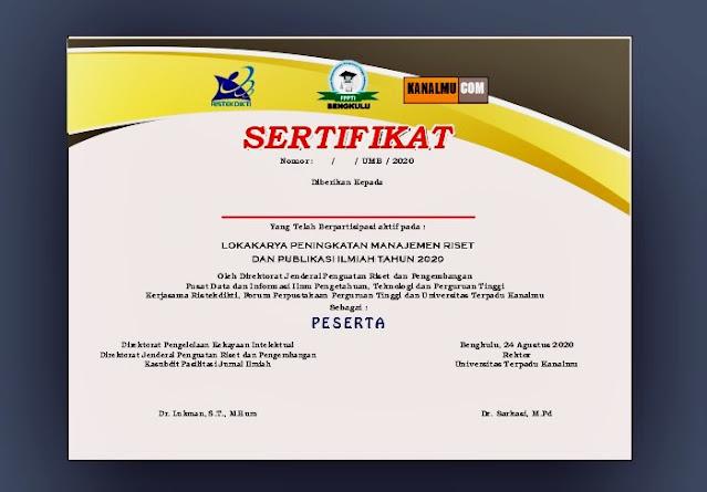Template sertifikat cdr gratis