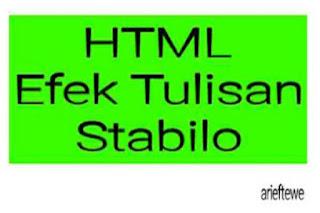 Efek stabilo html