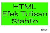 Cara Buat Efek HTML Tulisan Stabilo