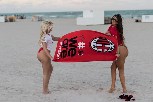 Claudia Romani and Jess Picado – Photoshoot to Celebrate AC Milan in Miami 8 Dec-2019