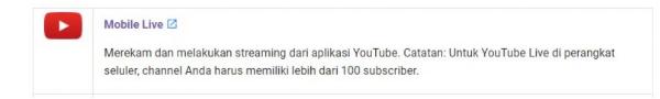 Cara Streaming di Youtube Android
