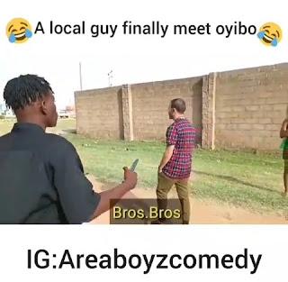 [COMEDY VIDEO] Local guy finally meet oyinbo @walido_1991