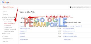 melihat backlink di webmaster