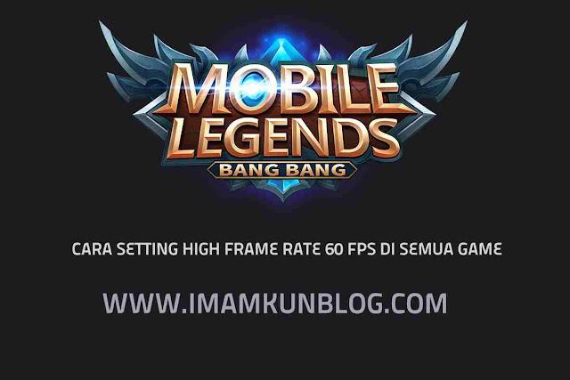 Cara Setting FPS Cao Untuk Mengaktifkan High Frame Rate