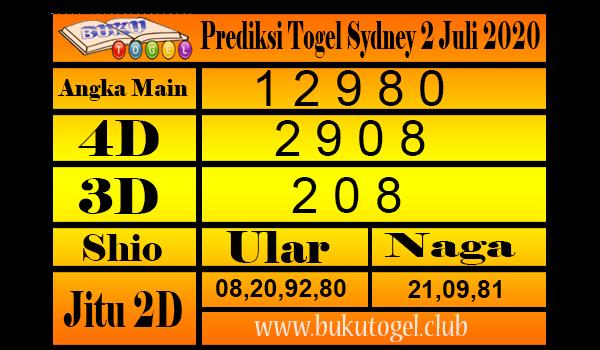 Prediksi Togel Sydney 2 Juli 2020