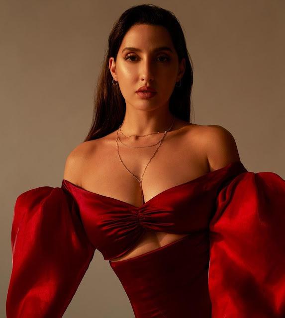 Nora Fatehi sets internet ablaze with her super HOT in red off-shoulder dress