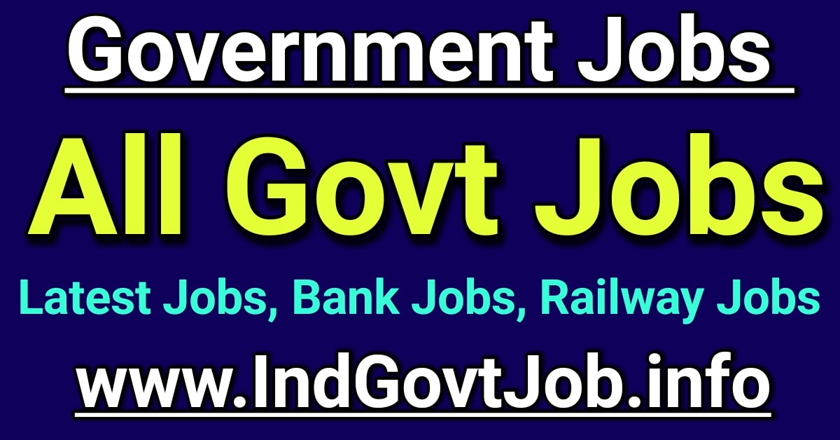 Government Jobs 2020 Latest Govt Jobs