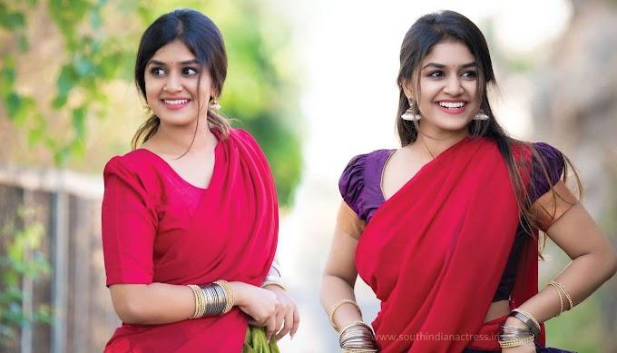 Actress Sanjana Anand In Half Saree Photos Stills