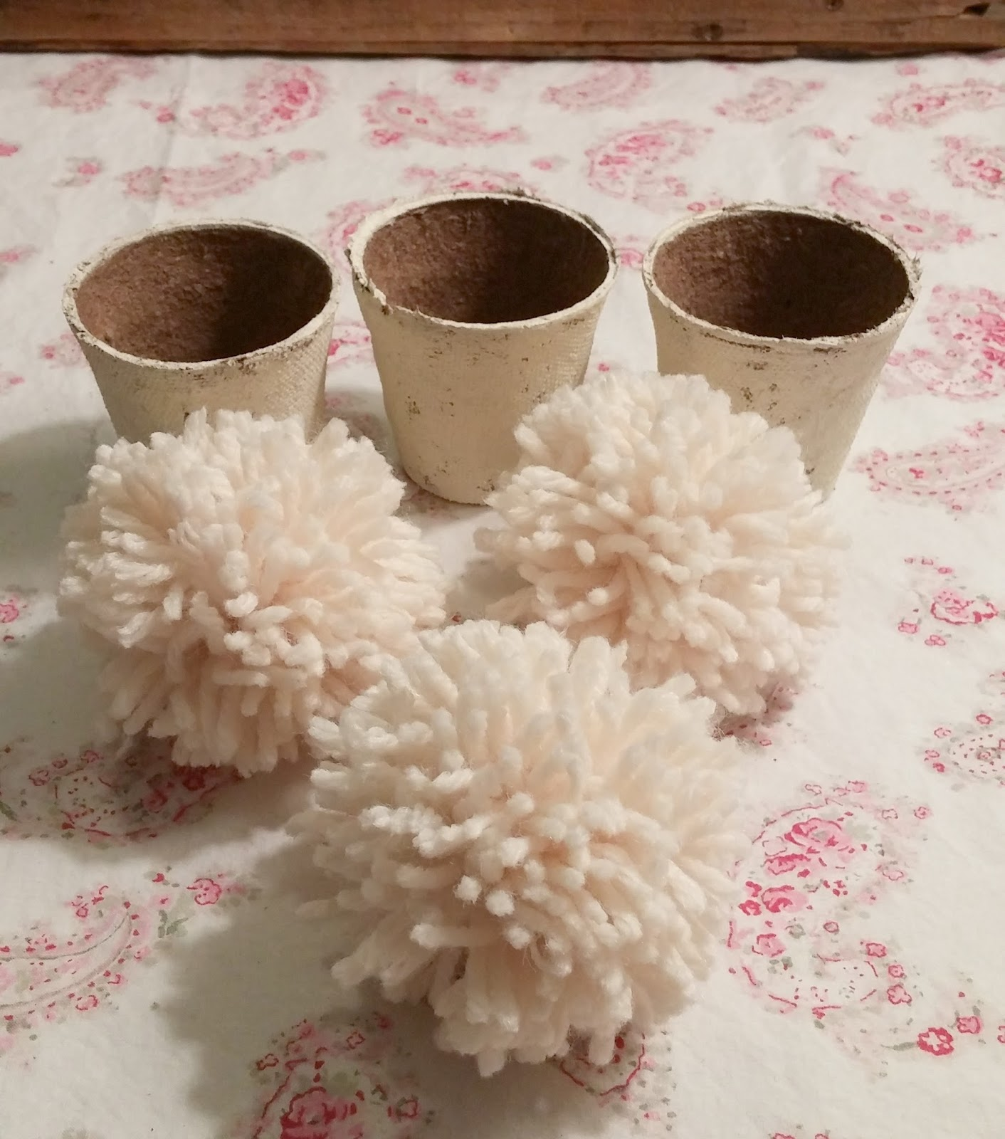 large pom poms made with clover pom pom maker