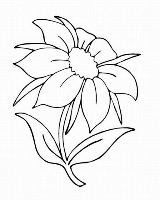 Gambar Mewarnai Bunga - 2