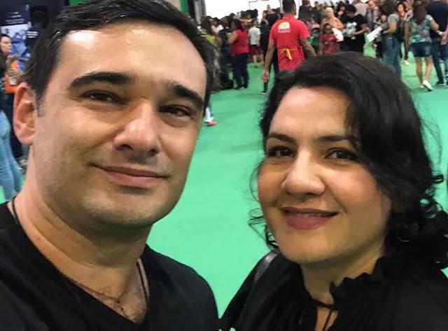Rodrigo Grazinol e Fabíola Garrido