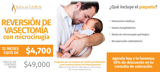 Paquete Reversion Vasectomia Vasosostomia Precio  Guadalajara Mexico