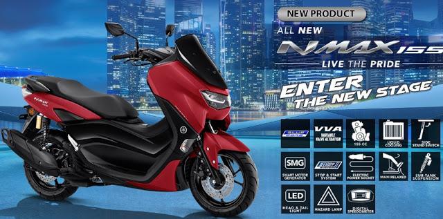 Harga Dan Spesifikasi Terbaru Dari Yamaha NMAX 2020