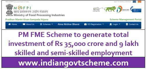 PM FME Scheme