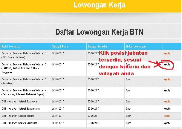 Daftar Online Bank BTN