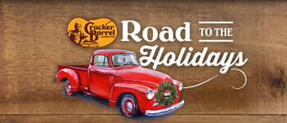Cracker Barrel is giving away prizes and gifts on the road to the Holiday Season! Enter to win a Vintage Chevy Truck, a trip to the Macy's Day Parade, gift cards and more!