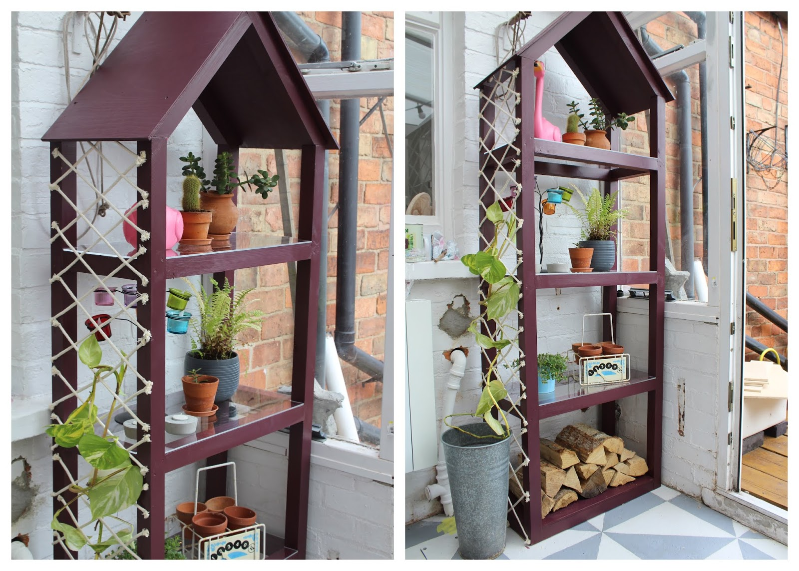 DIY Mini Greenhouse with Trellis