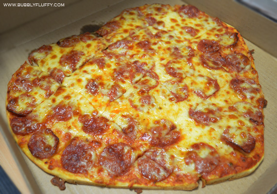 Angel's Pizza and Pasta Combo Heart-Shaped Pizza: Pepperoni Cheese