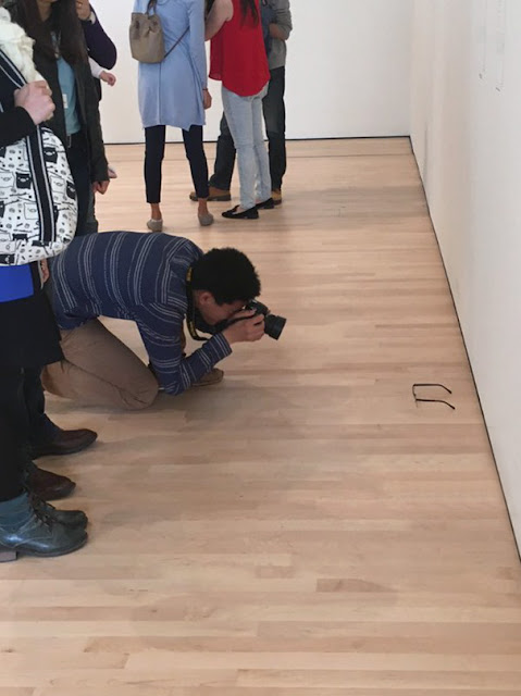 Gallery visitors mistook this plain pair of glasses for a work of art