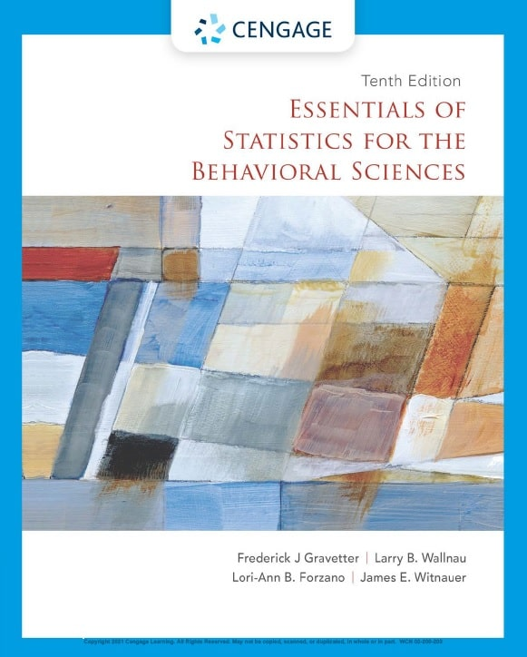Essentials of Statistics for the Behavioral Science, 10th Edition