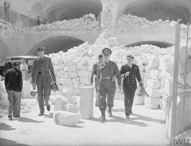 Lord Gort inspects bomb damage in Malta on 8 May 1942 worldwartwo.filminspector.com