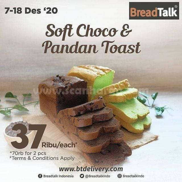 Promo Breadtalk Soft Toast & Pandan Toast harga 37rb/pc*  Beli  2pcs mix cuma 70rb