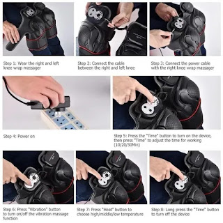 Alat Terapi Lutut Warmlife Infrared Magnetic Vibration Heating Massage Untuk Kesehatan
