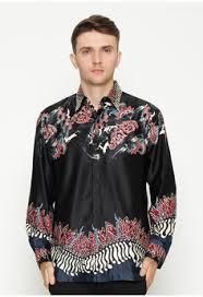 Model baju batik pria slim fit Terbaru