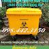 Xe gom rác y tế 660 lít màu vàng – thùng rác y tế 660 lít màu vàng chứa chất thải nguy hại lây nhiễm