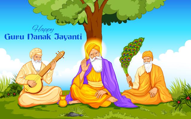 happy guru nanak jayanti festival
