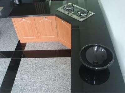 dapur granit hitam