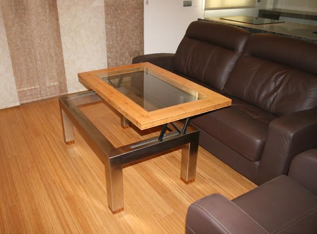 El bamb un material sostenible duradero y resistente - Mesa madera y vidrio ...