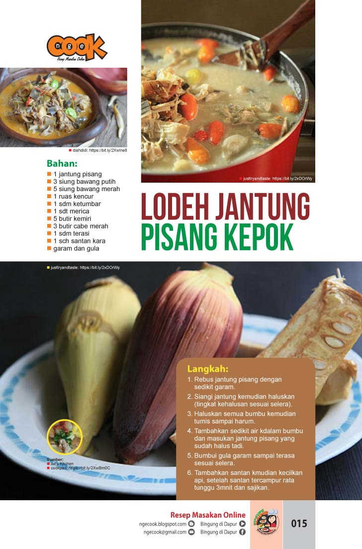 7 Resep Dan Cara Masak Jantung Pisang Kepok Jadi Sayuran Hingga Tumisan Yang Lezat Ngecook Kuliner Cooking
