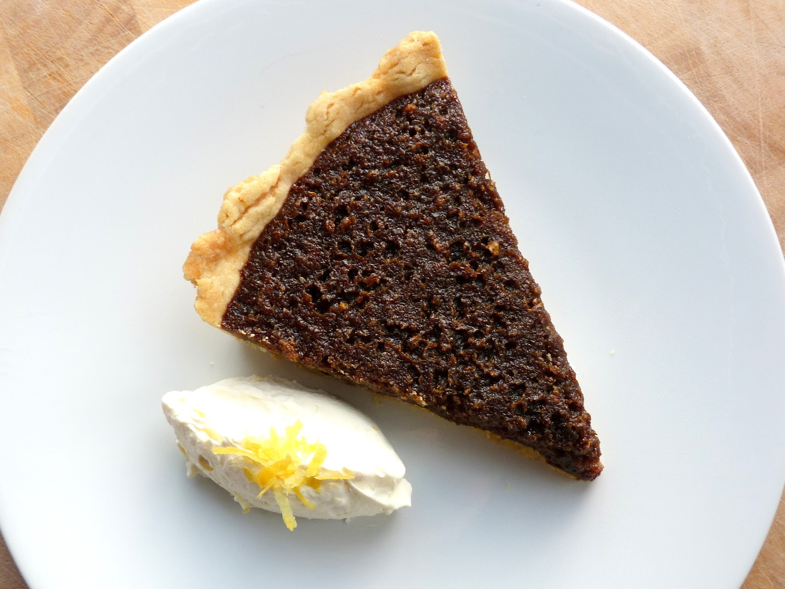 Pies And Fries Black Treacle Tart With Lemon Cream