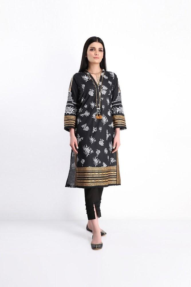 khaadi black printed lawn shirt shalwar